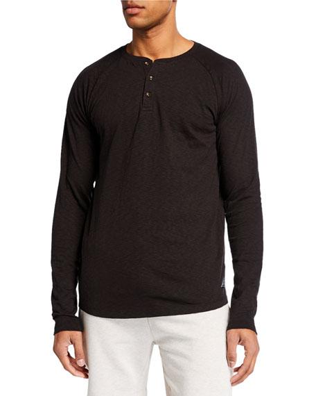 Scotch & Soda T-shirts MEN'S SLUB LONG-SLEEVE T-SHIRT
