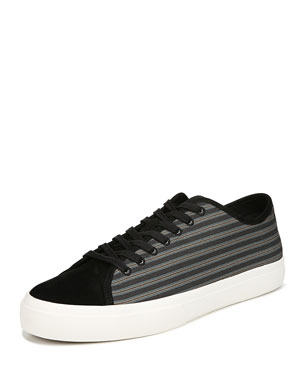 8f905098fbe Vince Men s Farrell-3 Canvas Leather Low-Top Sneakers