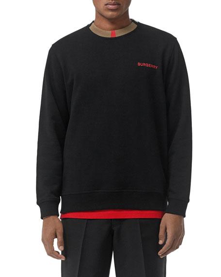 Burberry Men's Jarrad Icon Stripe Sweatshirt