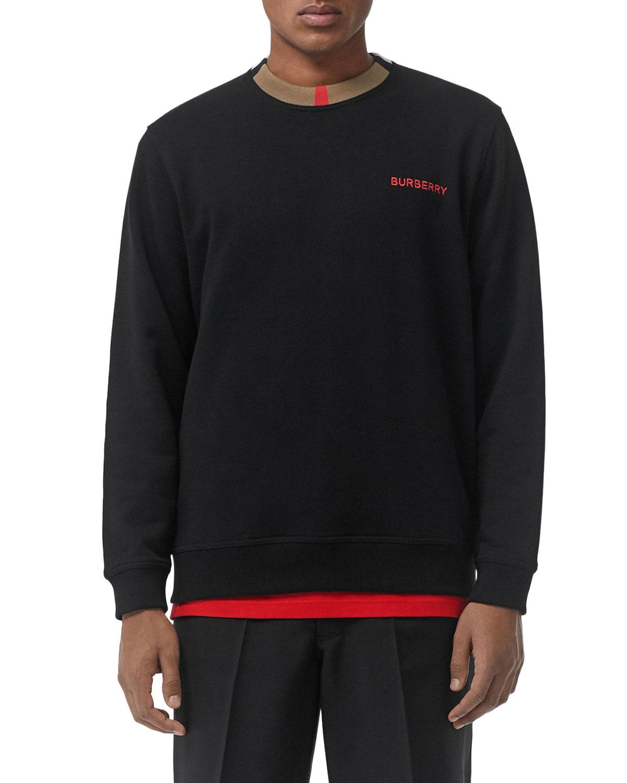 17107b4cec09 Burberry Men s Jarrad Icon Stripe Sweatshirt