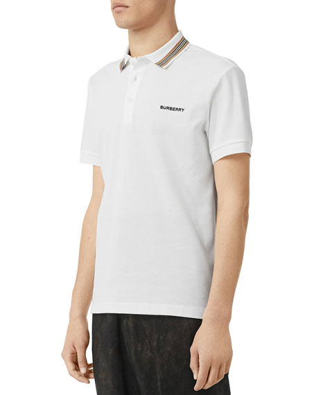 Burberry Men's Johnston Contrast-Trim Polo Shirt