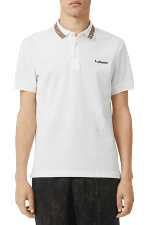 Burberry Men's Johnston Contrast-Trim Polo Shirt