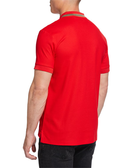 Burberry Johnston Signature-Trim Polo Shirt