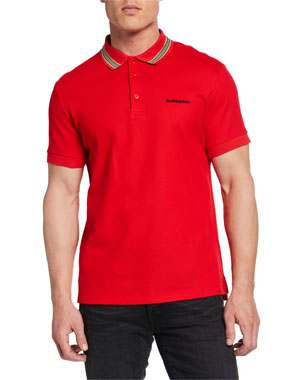 72706cd7e25 Burberry Johnston Signature-Trim Polo Shirt