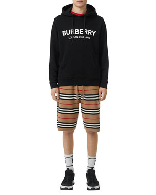 f26404164 Burberry Men's Lexstone Logo-Graphic Hoodie. Favorite. Quick Look