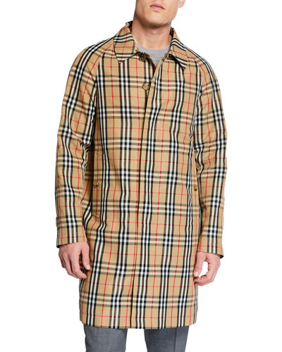 Men's Belmont Signature Check Rain Jacket