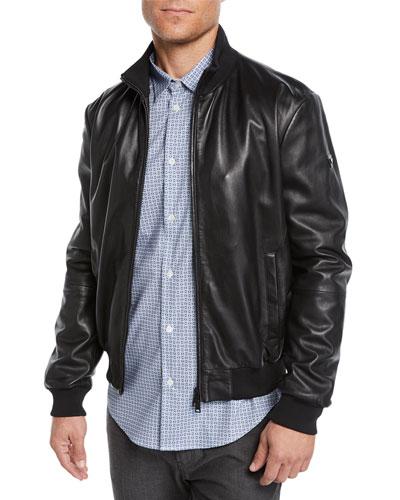 Men's Napa Leather Bomber Jacket