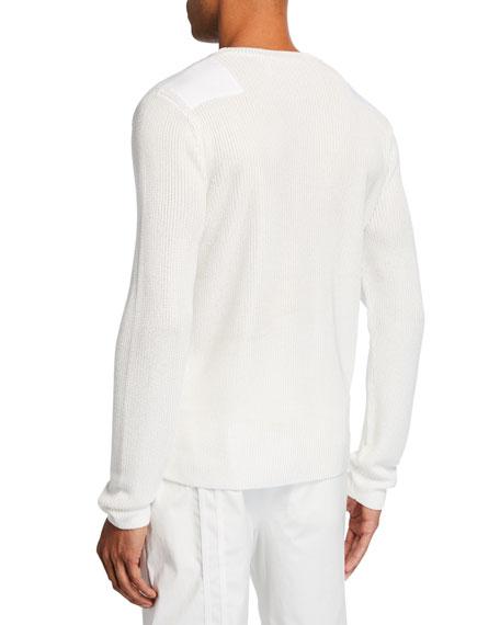 Helmut Lang Men's Military Long-Sleeve V-Neck Sweater