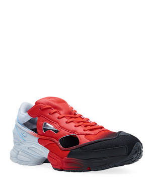 980f61b33f055 adidas by Raf Simons Men s Replicant Ozweego Dipped Color Trainer Sneakers