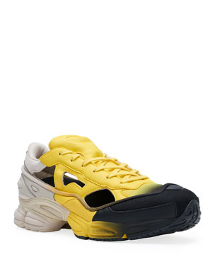 8decbb11bdf adidas by Raf Simons Men s Replicant Ozweego Dipped Color Trainer Sneakers