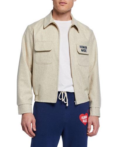 Men's Logo-Embroidered Souvenir Jacket
