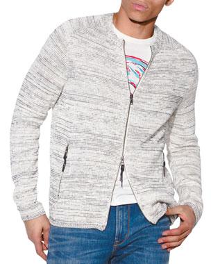 cf67b032b0 John Varvatos Star USA Men s Baptiste Zip-Front Sweater