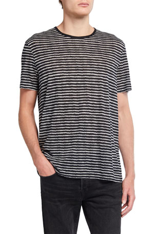John Varvatos Star USA Men's Adrian Zigzag Striped T-Shirt