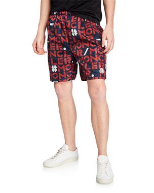 3b31482c8 Moncler Genius Men's Logo-Print Nylon Shorts