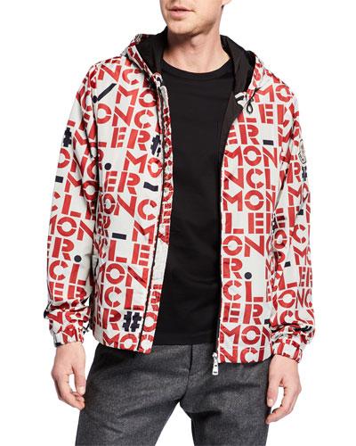 Men's Dorfman Block Logo-Print Jacket