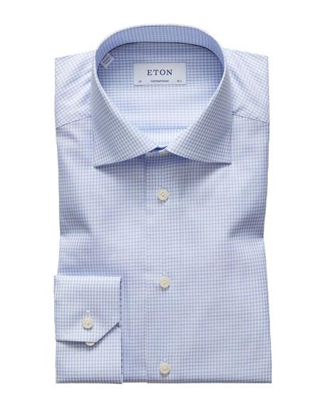 Eton Dresses MEN'S CHECK CONTEMPORARY-FIT DRESS SHIRT