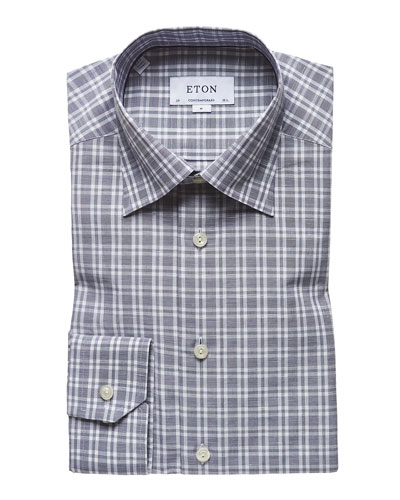 Men's Check Contemporary-Fit Sport Shirt