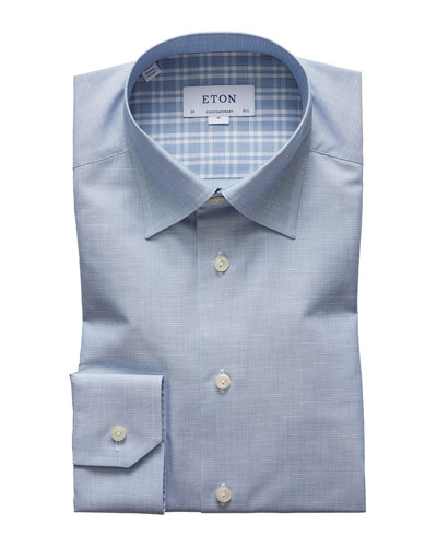 Men's Textured Contemporary Dress Shirt