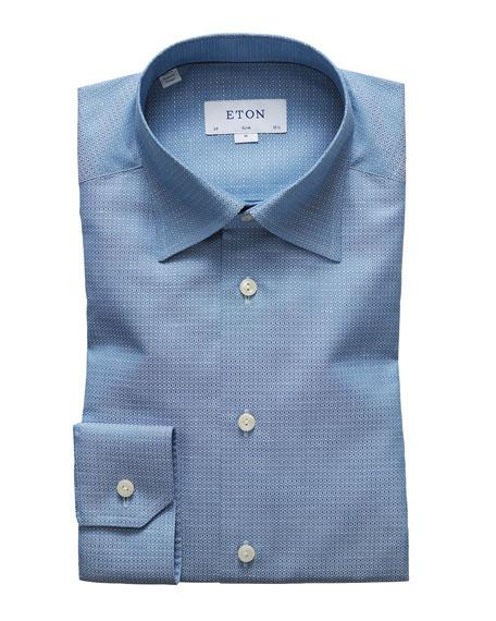 Eton Dresses MEN'S TEXTURED SLIM-FIT DRESS SHIRT