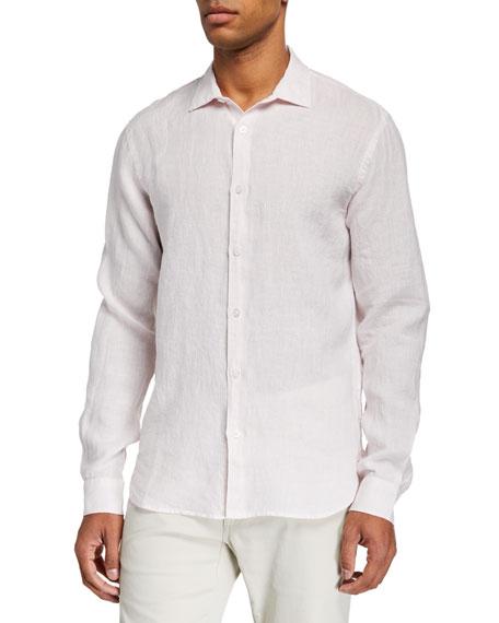 Orlebar Brown Shirts MEN'S GILES LINEN SPORT SHIRT