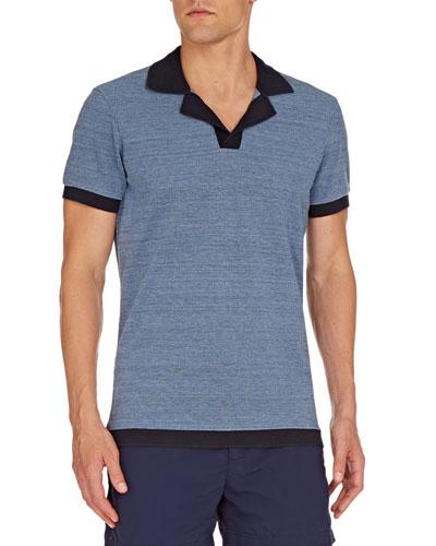Men's Felix Melange Knit Polo Shirt