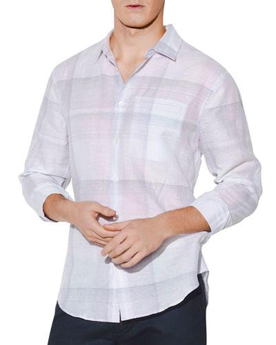 Men's Check Roll-Sleeve Shirt