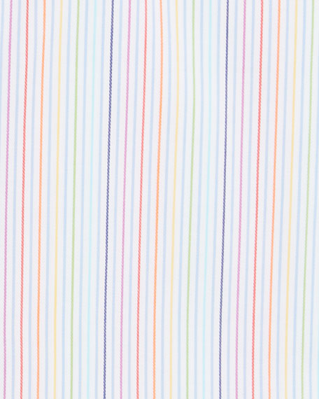Eton Men's Rainbow-Striped Contemporary-Fit Dress Shirt