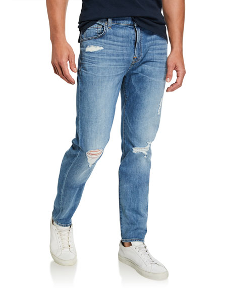 7 For All Mankind Men's Paxtyn Distressed Denim Jeans