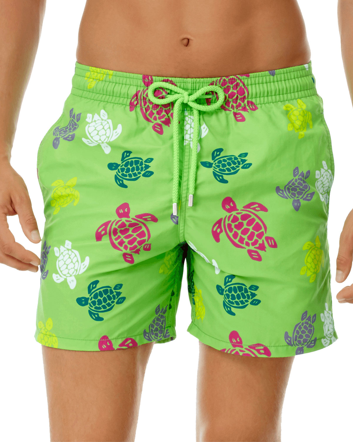 Vilebrequin Men's Moorea Turtles Swim Trunks