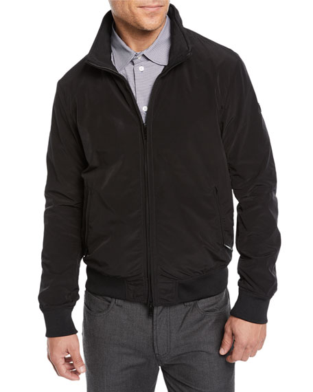 Men's Short Nylon Bomber Jacket