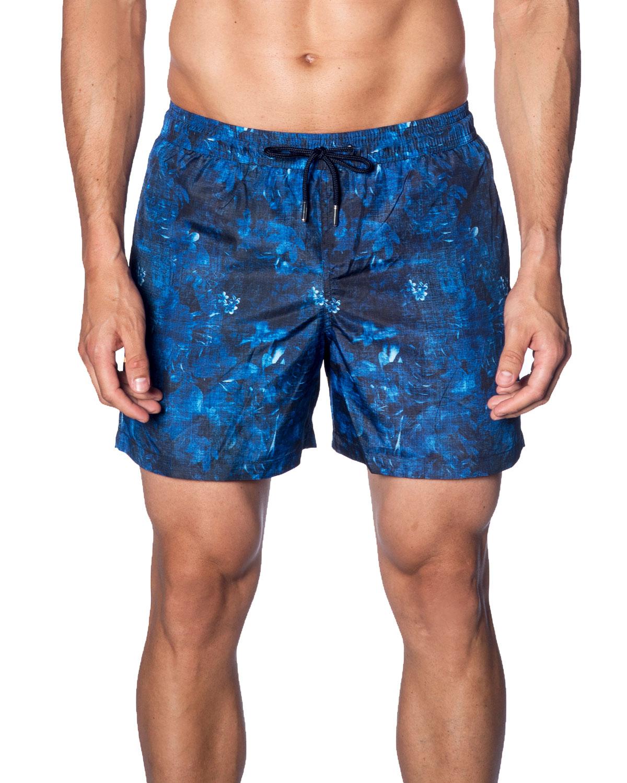 2d0df475c8 Jared Lang Men's Floral-Print Swim Trunks | Neiman Marcus