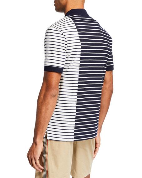 Burberry Men's Cut-Up Stripes Polo Shirt