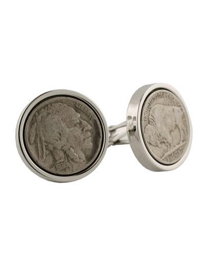 Nickel Cufflinks in Sterling Silver