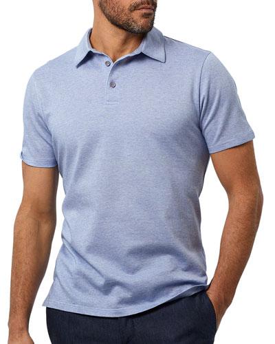 Men's Jaspe Heathered-Knit Polo Shirt