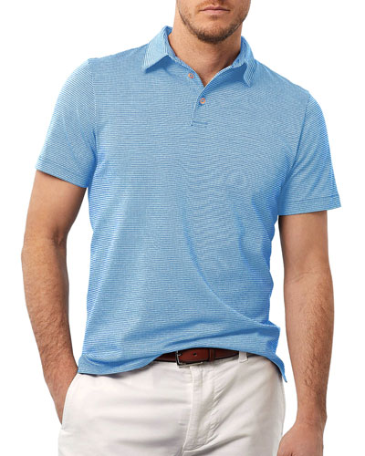 Men's Houndstooth Knit Polo Shirt