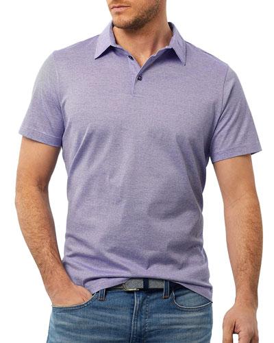 Men's Fine Line Knit Polo Shirt