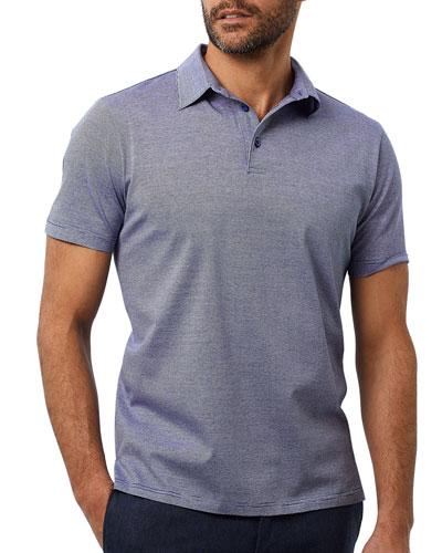 Men's Fine Lines Polo Shirt  Navy