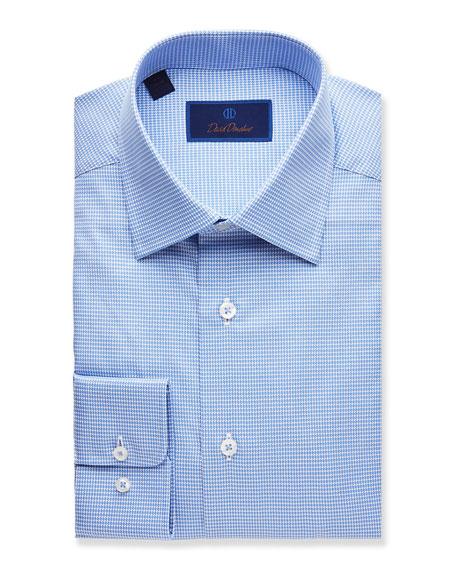 David Donahue  MEN'S TEXTURED REGULAR-FIT DRESS SHIRT