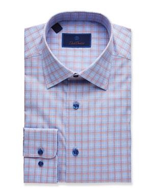 896556871f8 David Donahue Men s Plaid Regular-Fit Dress Shirt
