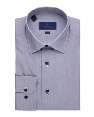 e4190d3b90c David Donahue Men s Solid Textured Slim-Fit Dress Shirt