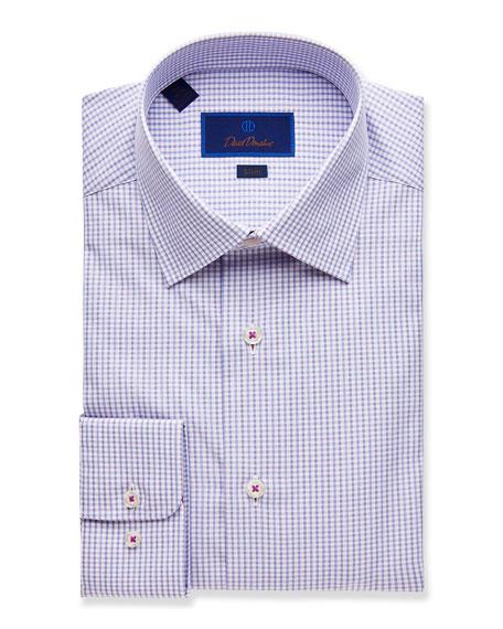 David Donahue  MEN'S SLIM-FIT BASKETWEAVE DRESS SHIRT