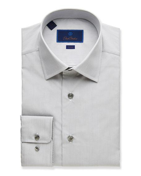 David Donahue  MEN'S TRIM-FIT POPLIN DRESS SHIRT
