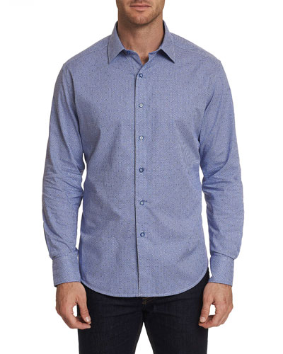 Men's Perran Mini-Check Sport Shirt