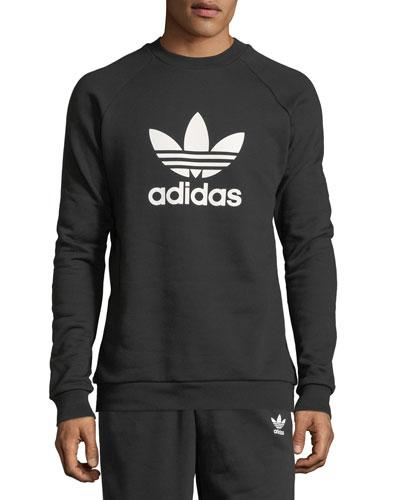 Men's Trefoil Warm-Up Sweatshirt  Black