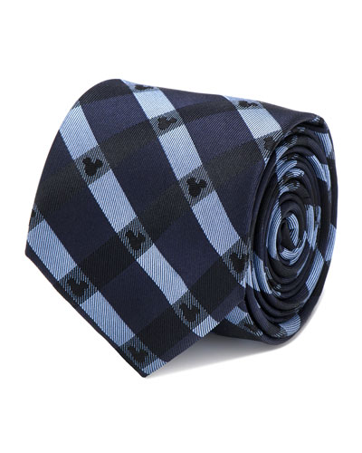 Mickey Mouse Plaid Tie