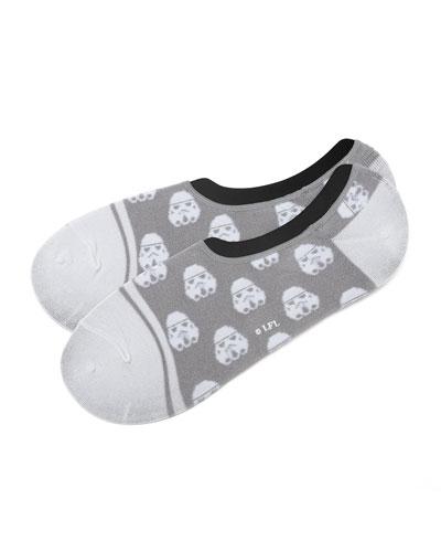 Storm Trooper No-Show Socks