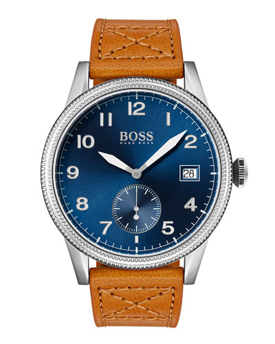 Men's Legacy Watch with Leather Strap