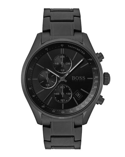 Men's Grand Prix Chronograph Watch with Bracelet  Black