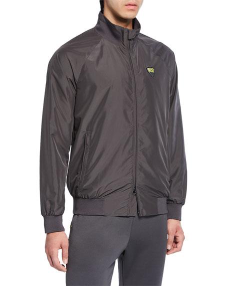 Emporio Armani Men's Green Club Zip-Front Jacket