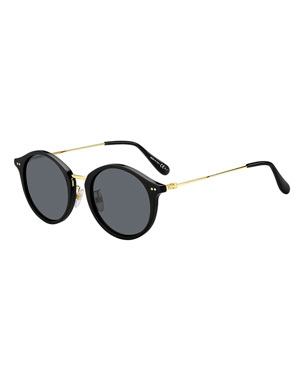 3894a5859ad58 Givenchy Men s Round Plastic Sunglasses